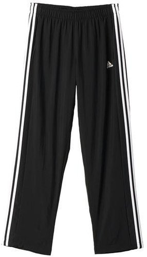112de2799ee0e9 Adidas Männer Essentials 3-Stripes gewebte Hose Open Säume schwarz weiß