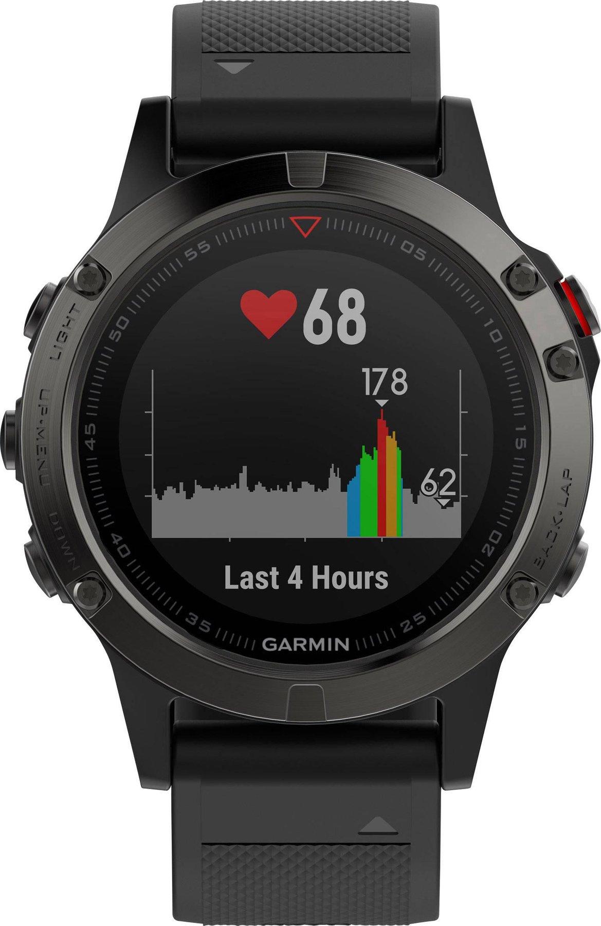 Sportuhr Grau günstig kaufen Garmin Fenix 5 Saphir 47mm GPS Smartwatch