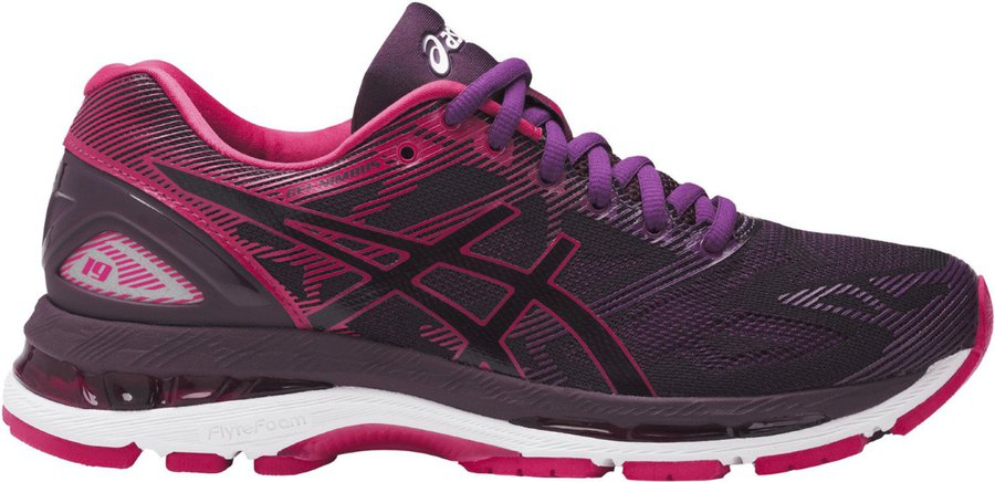 f7338a11d84b24 Asics Gel-Nimbus 19 Women black cosmo pink winter bloom günstig